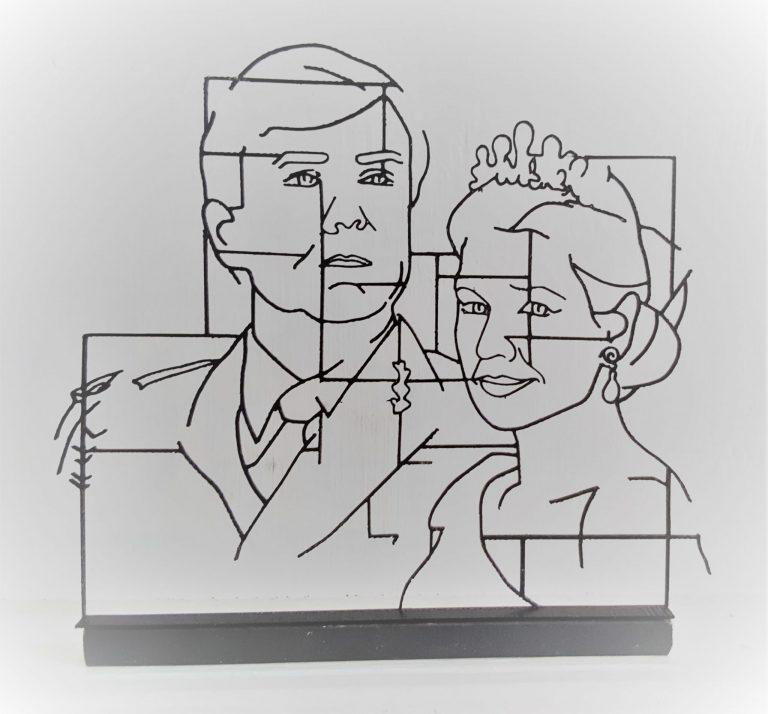 Portret Koningspaar 3D klein