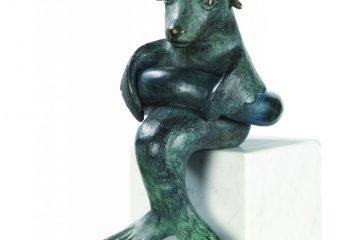 Sea lion - Brons - 20x12x13cm - Anouk de Groot