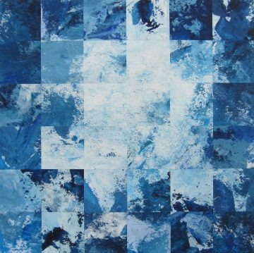 Boxing the blues part one 30 x30 x5 cm